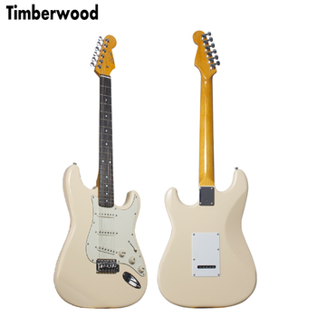 Olympic White Off White color ST strat electric guitar alder body with maple neck OEM electric guitar for wholesale