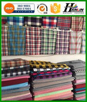 make-to order 100% Cotton soft Yarn Dye checked/stripe/plaid Fabric for shirt fabric