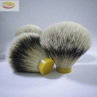 Reasonable Price Extra Density Bulb Shape Soft 24mm Silvertip Badger Hair Shaving Brush Knot for Men Grooming