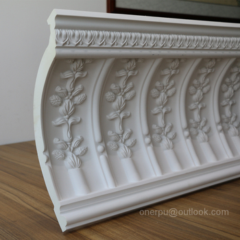 HN-8070 Decorative foam ceiling cornice PU cove moulding for home decor