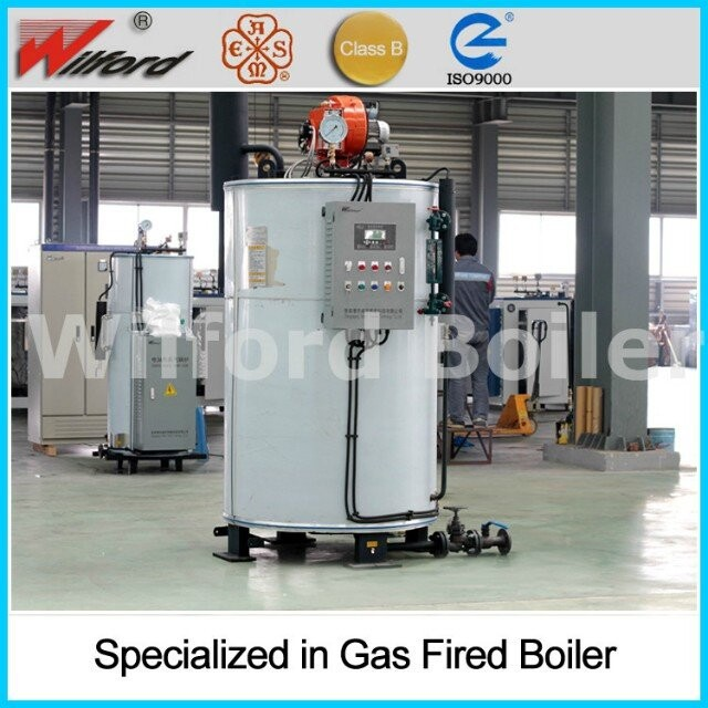 steam heating boiler with gas fuel