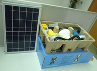 Indoor and outdoor solar lighting system 10W mini solar light kits with mobile phone chargers