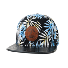 Original Manufacturer Custom Multi Colors 6 Panel Adjustable Floral Lether Brim Patch Hiphop Cap