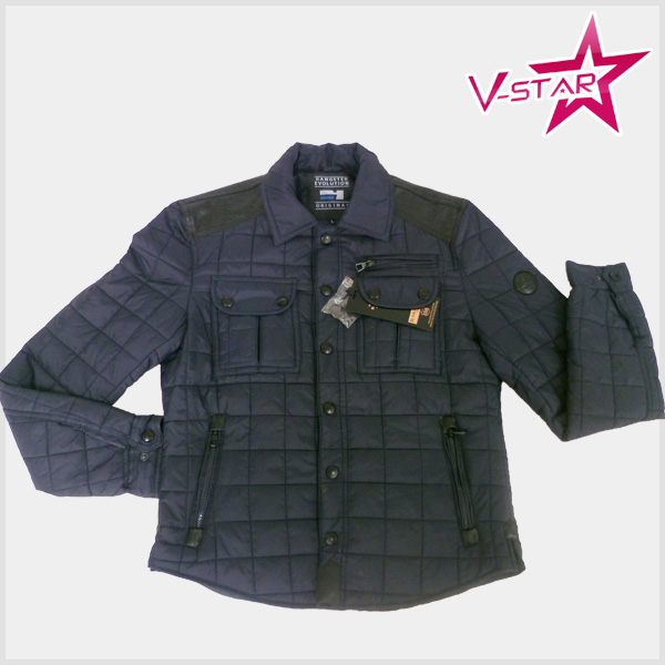 Men's Winter Warm padding Jacket with Diamond Quilting for Men's Outerwear