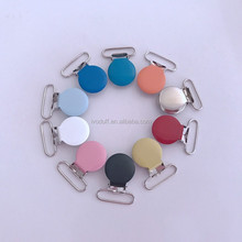 Bulk Price 25mm Round Shape Metal Suspenders Clip With Plastic Teeth Inside