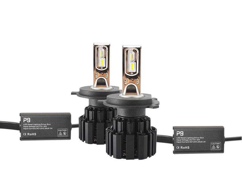IP 67 car headlight led 50W 6800LM P9 led headlight bulbs h4 h7 h11 9005 car led xenon headlight 5202 h27