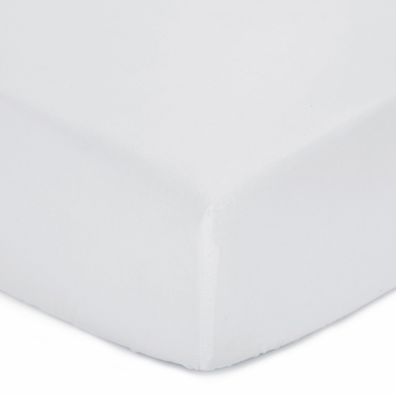 White Color Polyester Microfiber Fitted Crib Sheet Buy