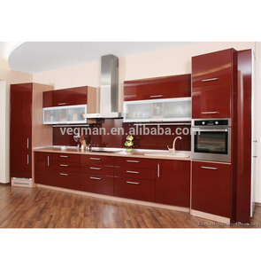New model kitchens picture red high gloss lacquer furniture