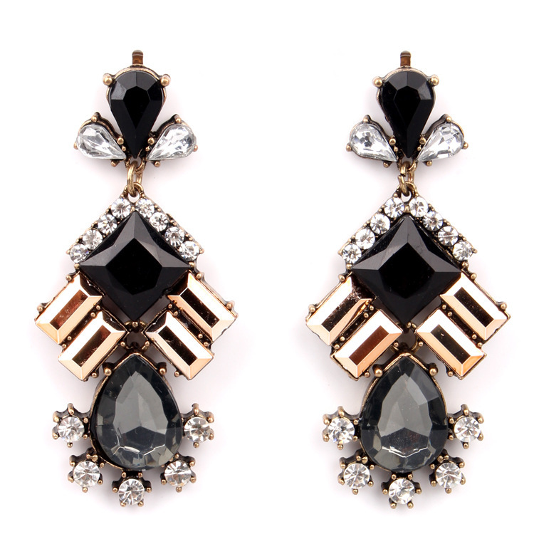 costume jewelry manufacturer thailand costume jewelry black bead vintage earrings