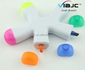 5 in 1 Starfish shape highlighter pens with logo customized