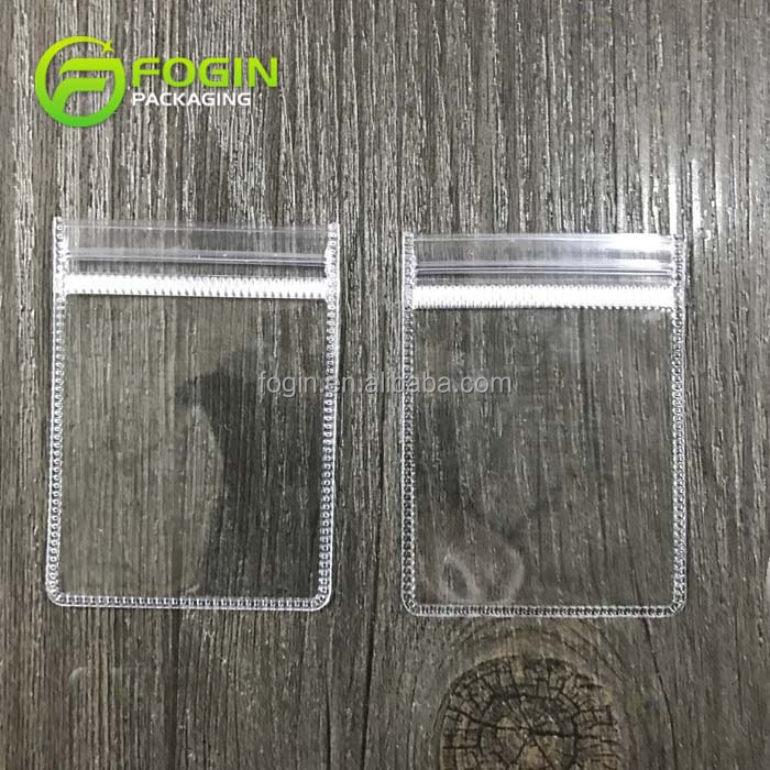 Clear small jewelry zip seal bags transparent plastic case