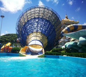 Used theme park equipment fiberglass big speaker water slides for sale