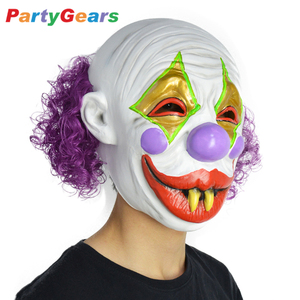 2017 Newly Product Latex Halloween Masquerade Costume Scary Clown Mask For Sale