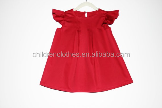 Boutique remake Children dresses red kids weeding dress clothing baby dress
