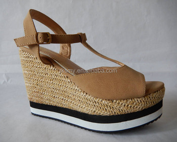 grande qualité modèles à la mode prix d'usine Femmes Chaussures Sandales À Talons Plat Taobao Robe Femme Chaussures  Bateau Avec Jute Plate-forme - Buy Chaussures Bateau,Taobao Robe ...