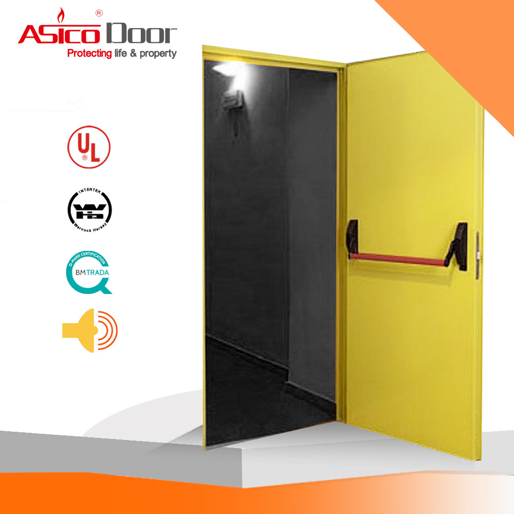Oman Myanmar Iraq UL Listed Fire Rated Steel Door With Hardware, View oman  fire door, ASICO Product Details from Qingdao Volno Industry & Trade Co ,