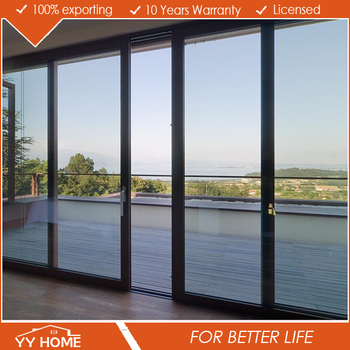 Y Y Windows Commercial Luxury Double Glass Aluminium Sliding Door