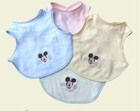 Alibaba china bulk wholesale 100% organic bamboo baby bib with factory price
