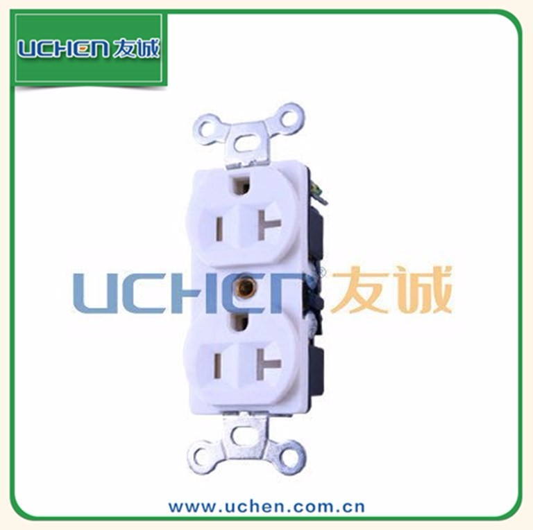 YGB-048 Uchen CUL approved safe and durable NEMA 5-20R duplex receptacle