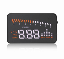 Walmart Best Selling X5 HUD Head Up Display Digital RPM Meter Small Stained Glass Display