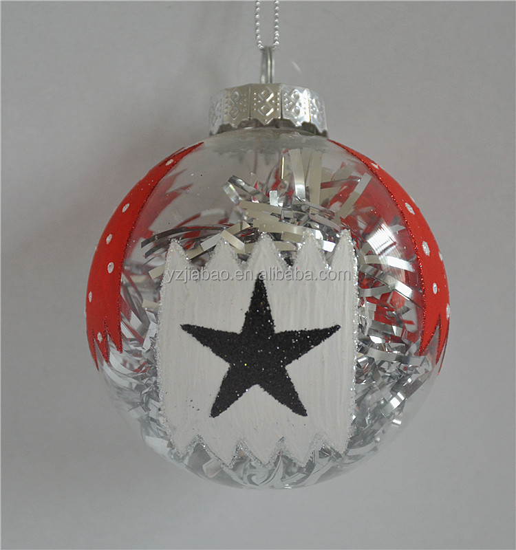 Popular wholesale festival items painting glass ball christmas ornaments from online shopping of china