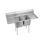 restaurant sink 2 Compartment NSF Stainless steel