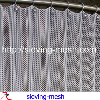 Mesh Curtain Drapery For Interior Partition / Exterior Wall Cladding  Material