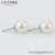 E-858 Xuping rhodium color stud earring pearl fashion gold jewelry pearl studs