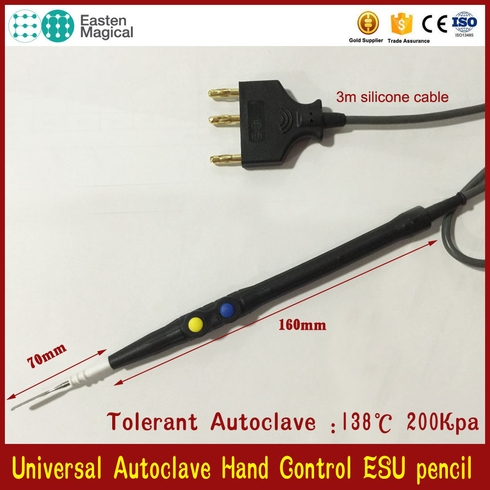 Autoclave Reusable Cautery pen / Electrosurgery Pencil