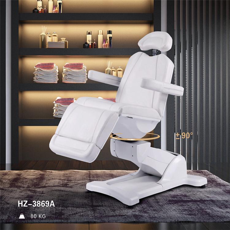 2017 aprobación CE tratamiento cosmético cama PU/PVC de cuero Silla de salón de belleza