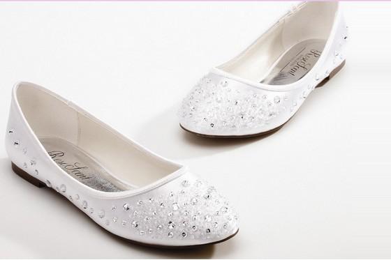 e1e9a9e90d3e Get Quotations · Custom made fashion Rhinestone design wedding shoes Satin  flat bride shoes Pregnant woman shoes