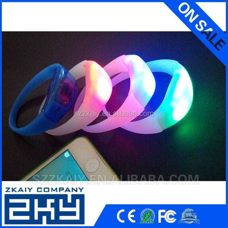 New Business Idea Wholesale Customized Silicone Shake LED Bracelet