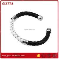 Fashion jewelry accessories genuine mens handmade braided leather bracelet,Snake Skin Bracelet GB1541