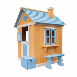 Sale Cheap Waterproof Large Childrens Garden Prefab Used Kids Cubby Outdoor Wooden Playhouses With Bench