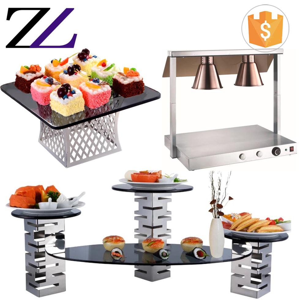 Restaurant hotel decorative items buffet riser high tea cake dessert buffet display stands
