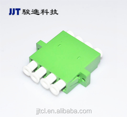Chinese manufacturer LC Singlemode/One Piece Quad Fiber Optic Adapter
