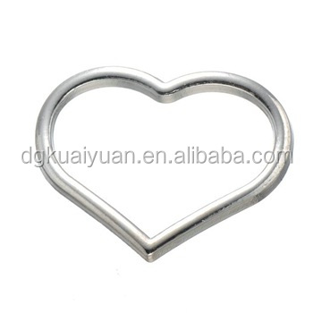 Wholesale Stainless Steel & Zinc Alloy Material Fashion Heart O Ring ...