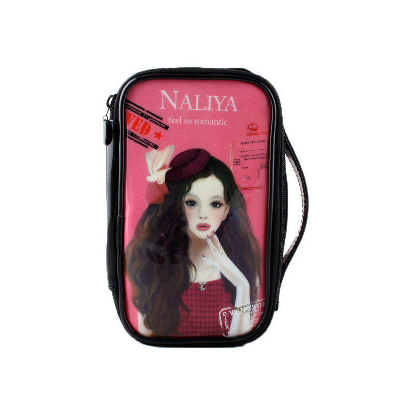 Waterproof Travel Cosmetic Makeup Bag Pouch The Little Girl Doll Mate Portable Cosmetic Bag
