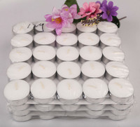 Cheap price vegetable wax white tea light candle