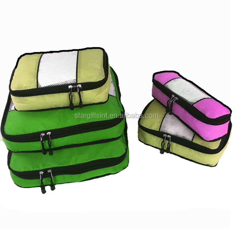 5 Set Travel Organizers Waterproofing Polyester Simple Packing Cube With Zipper