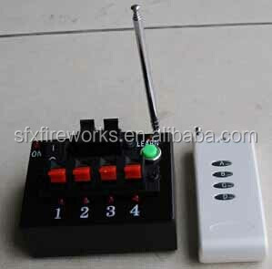 4cues remote control firing system, rechargeable battery, 500m distance,learn function