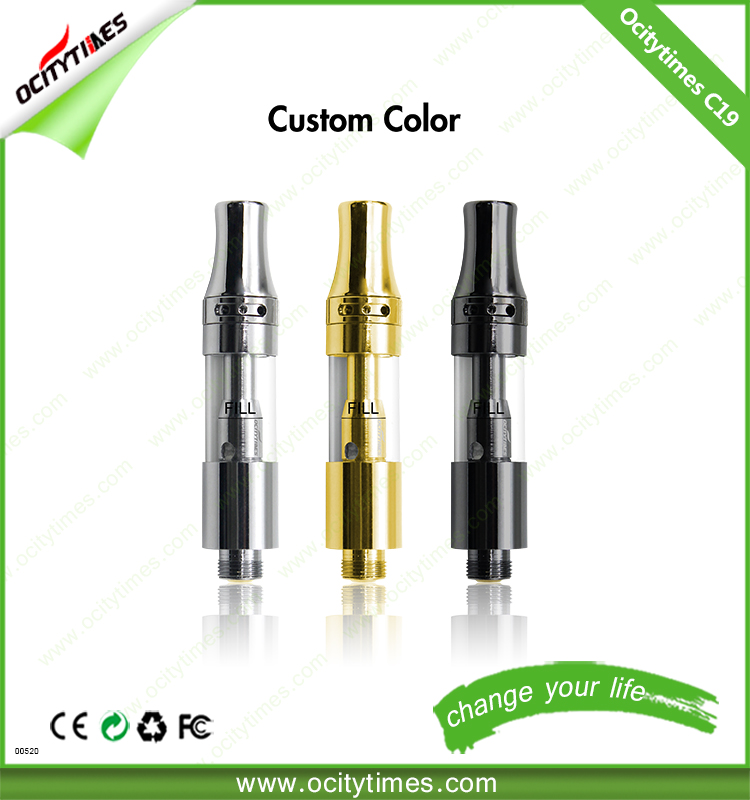 1ml thick oil cartridge Ocitytimes C18-T quartz coil 510 cbd hemp oil vaporizer cartridge