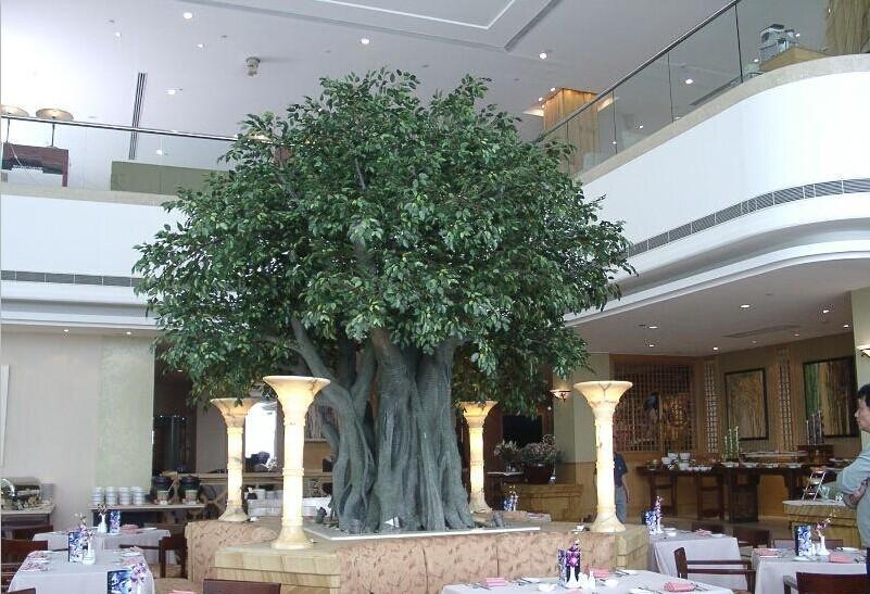 Gros artificielle banyan arbres bonsa arbres grande for Arbre artificiel pour interieur