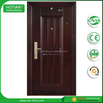 Single Double Steel Security Door Indian Main Gate Designs Metal
