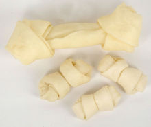 wholesale natural dog retriever knotted bone pet chew