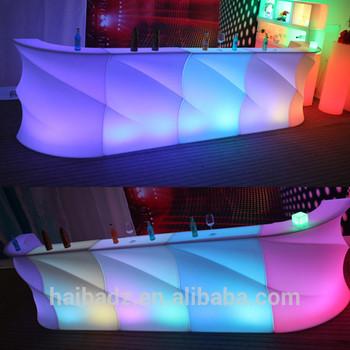Charming Hookah Lounge Furniture Modern Bar Furniture Illuminated Led Lighted Drink  Bar Counter
