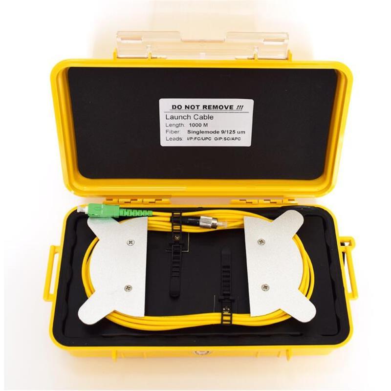 Fiber Optic OTDR Launch Cable Box 1000m Singlemode SC-APC SCUPC Connector Dead Zone Eliminator Fiber