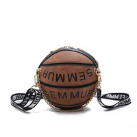 New Arrival personality handbag female basketball styling creative popular small round bag shoulder bag