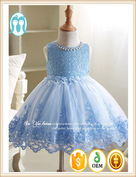 378900023dd68 2017 European style girls party dresses baby cotton frocks designs girls  wedding dresses flower Blue Angel