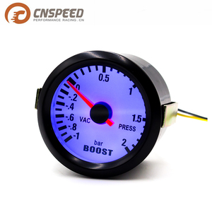 CNSPEED 52MM Car Boost gauge -1~2 Bar Black Case Blue Led Boost gauge Car meter
